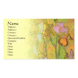 Carte pâle de profil de mélange de la rangée 1 d'i cartes de visite professionnelles