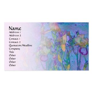Carte pâle de profil de mélange de la rangée 2 d'i cartes de visite professionnelles