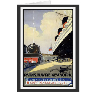 Carte Paris Le Havre New York