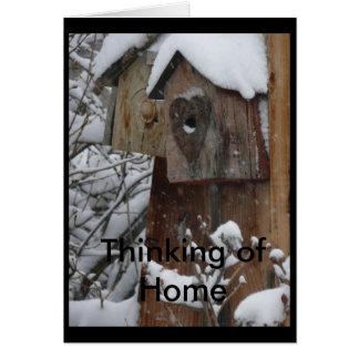 Carte : Pensée à la maison