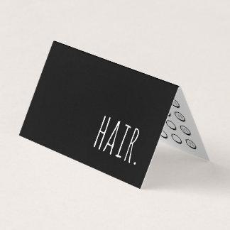 carte perforée de fidélité pliée par cheveux
