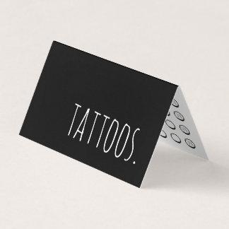 carte perforée de fidélité pliée par tatouage