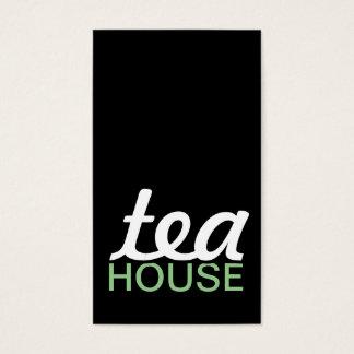 carte perforée de maison de thé