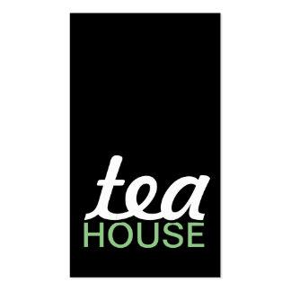 carte perforée de maison de thé carte de visite standard