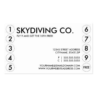 carte perforée de parachutisme modèle de carte de visite
