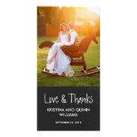 Carte photo avec du charme de Merci de mariage de  Modèle Pour Photocarte