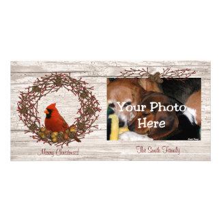 Carte photo cardinal de guirlande photocarte personnalisée