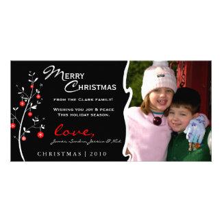 Carte photo d arbre de Noël de concepteur Cartes Avec Photo