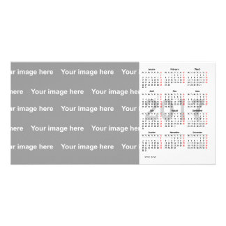carte photo de calendrier du modèle 2017 cartes avec photo