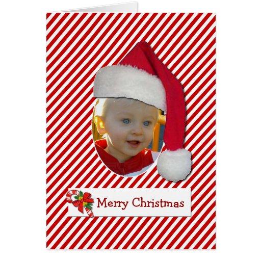 Carte photo de Chrismtas de chapeau de Père Noël d