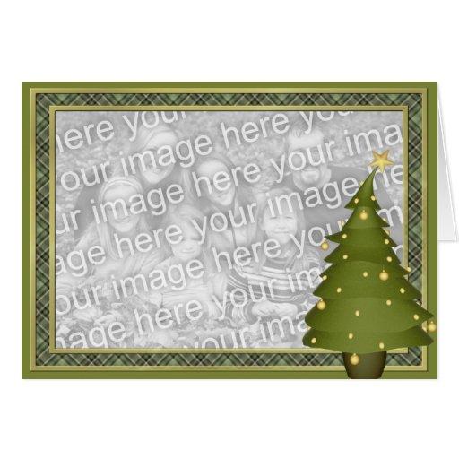 Carte photo de coutume d'arbre de Noël de Lil d'am
