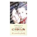 Carte photo de coutume de Joyeux Noël Photocartes
