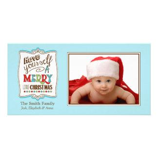 Carte photo de famille de Joyeux Noël Modèle Pour Photocarte