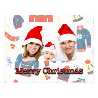 Carte photo de Joyeux Noël avec des mitaines et Cartes Postales