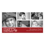 Carte photo de Joyeux Noël avec le collage de 5 ph
