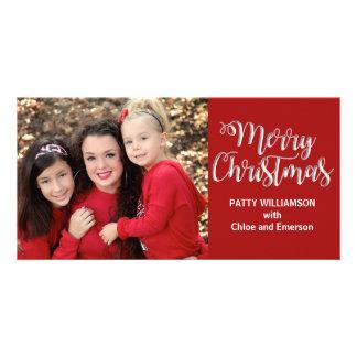 Carte photo de Joyeux Noël de parent de papa de