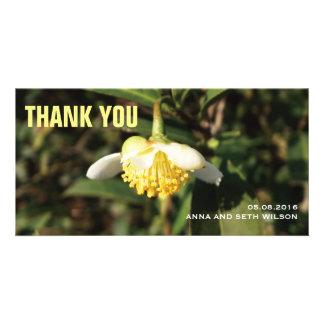 Carte photo de Merci de fleur blanche Photocarte Customisée