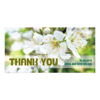 Carte photo de Merci de fleurs blanches Cartes Avec Photo