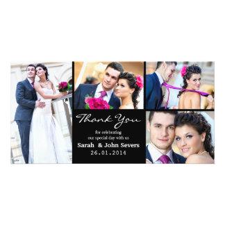 Carte photo de Merci de mariage Carte Avec Photo
