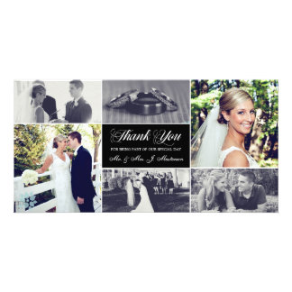 Carte photo de Merci de nouveaux mariés Modèle Pour Photocarte