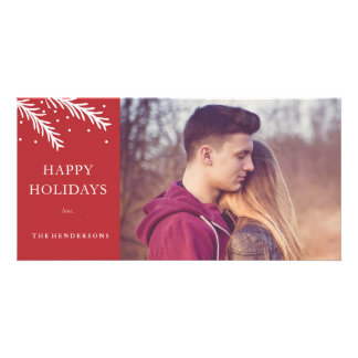 Carte photo de Noël de pin de vacances Photocarte Customisée