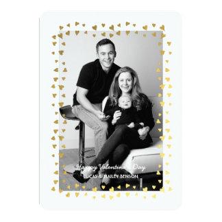 Carte photo de Saint-Valentin du cadre | de coeur Carton D'invitation 12,7 Cm X 17,78 Cm