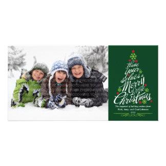 Carte photo de vacances d arbre de Noël arbre Photocartes Personnalisées