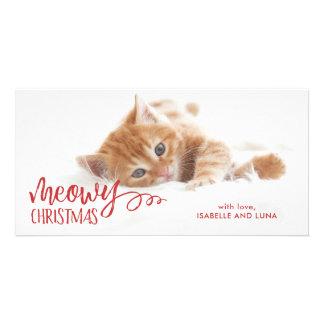 Carte photo de vacances d'animal familier de chat