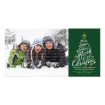 Carte photo de vacances d'arbre de Noël (arbre) Photocartes Personnalisées