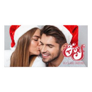 Carte photo de vacances de Noël de joie