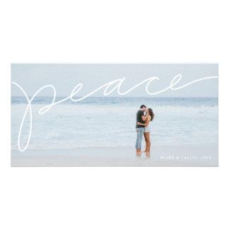 Carte photo de vacances de paix