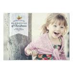 Carte photo de vacances des bénédictions | de Noël Carton D'invitation 12,7 Cm X 17,78 Cm