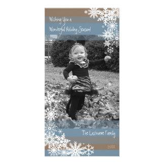 Carte photo de vacances : Laissez lui neiger ! Photocarte