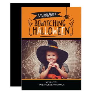 Carte photo enchantant mignon de Halloween Carton D'invitation 12,7 Cm X 17,78 Cm