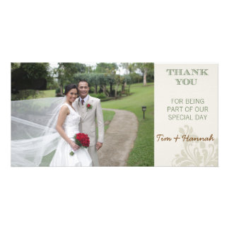 Carte photo fait sur commande de Merci de mariage Photocartes Personnalisées