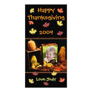 Carte photo fait sur commande de thanksgiving/vaca photocartes