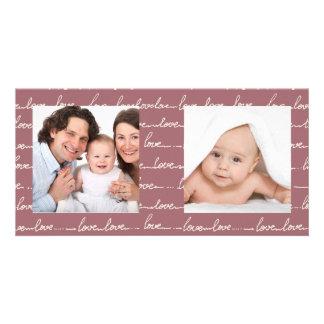 Carte photo heureux d'AMOUR de famille