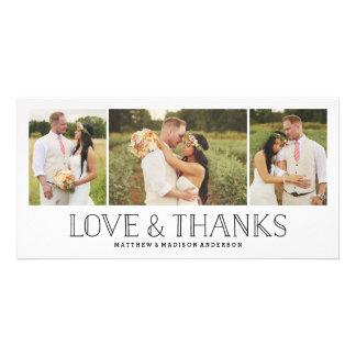 Carte photo l'épousant de Merci de Boho | d'amour Cartes De Vœux Avec Photo