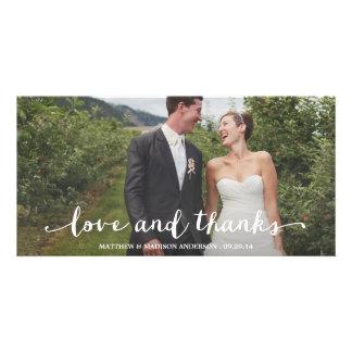 Carte photo l'épousant heureusement marié de Merci Photocarte