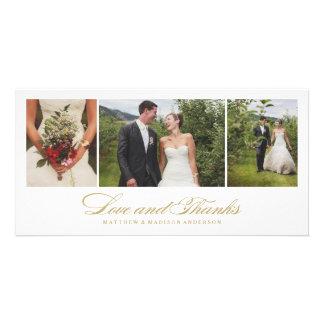 Carte photo | l'épousant intemporel de Merci Photocartes Personnalisées