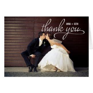 Carte photo MANUSCRIT de Merci de mariage