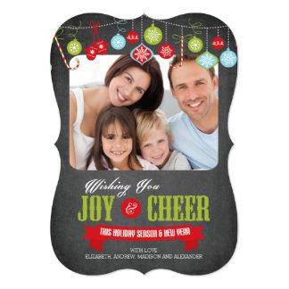 Carte photo mignon de Noël de famille de tableau Carton D'invitation 12,7 Cm X 17,78 Cm
