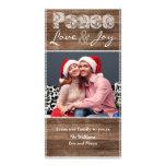 Carte photo plat de dentelle rustique de Noël de p Cartes Avec Photo