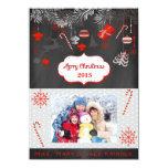 Carte photo plat de tableau de Joyeux Noël Bristol Personnalisé