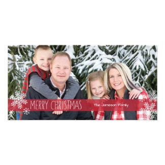 Carte photo pur de Noël de couleur Cartes De Vœux Avec Photo