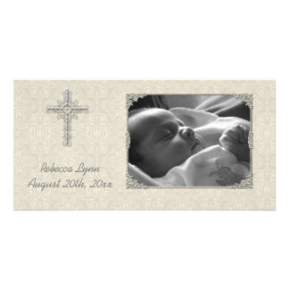 Carte photo religieux de dentelle crème cartes avec photo