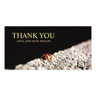 Carte photo rouge de Merci de coccinelle Carte Avec Photo