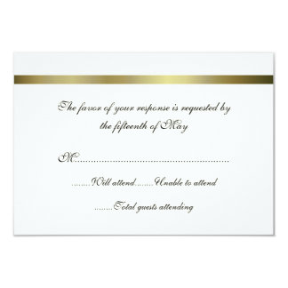 Carte polyvalente de réponse de mariage d'ivoire carton d'invitation 8,89 cm x 12,70 cm
