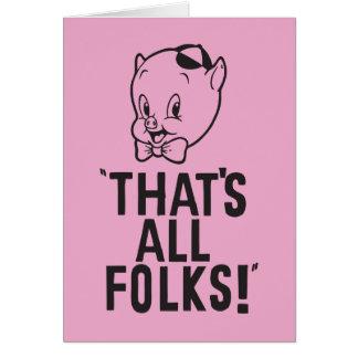 """Carte Porc gros classique """"qui est tous les gens ! """""""