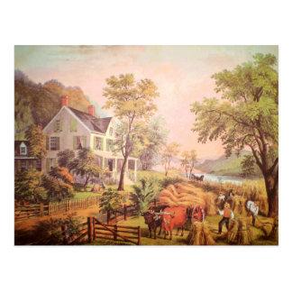 Carte postale à la maison de la récolte de l'agric